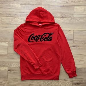 🔺▪️ Coca-Cola Chenille Logo Hooded Sweatshirt (S)